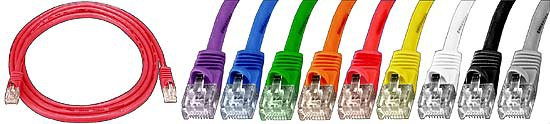 CAT5 Strandard Conductor Booted Patch Cables