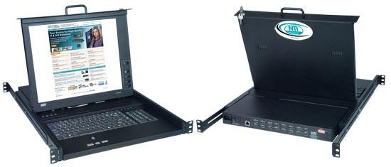 Rackmount SUN USB KVM Drawer with High Density USB DVI KVM Switch
