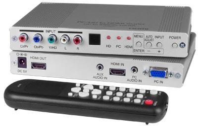 PCHD-HDMI-SCALER (Front & Back + Remote)