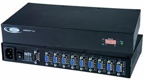 8-port VGA switch, 8 PC's to 1 VGA monitor, RS232 control, rackmount kit