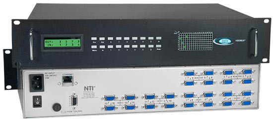 VGA video matrix switch, 32 in 8 out, Ethernet/RS232 control, rackmounted