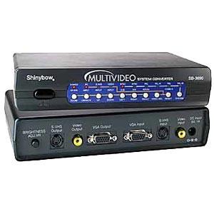 TV to VGA & VGA to TV video converter; Composite, S-Video & VGA outputs