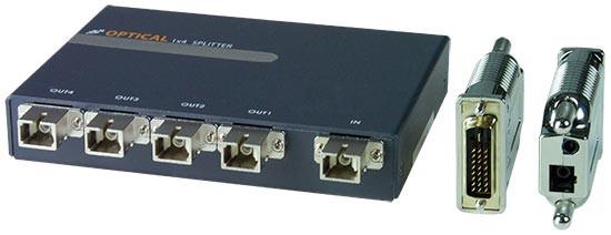 VOPEX-FODVI-SC4 Optical Splitter and ST-1FODVI-R-SC Remote Unit (Front & Back)