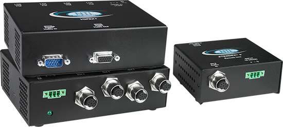 Industrial 4-Port CAT5 VGA Video Splitter/Extender, Local Unit